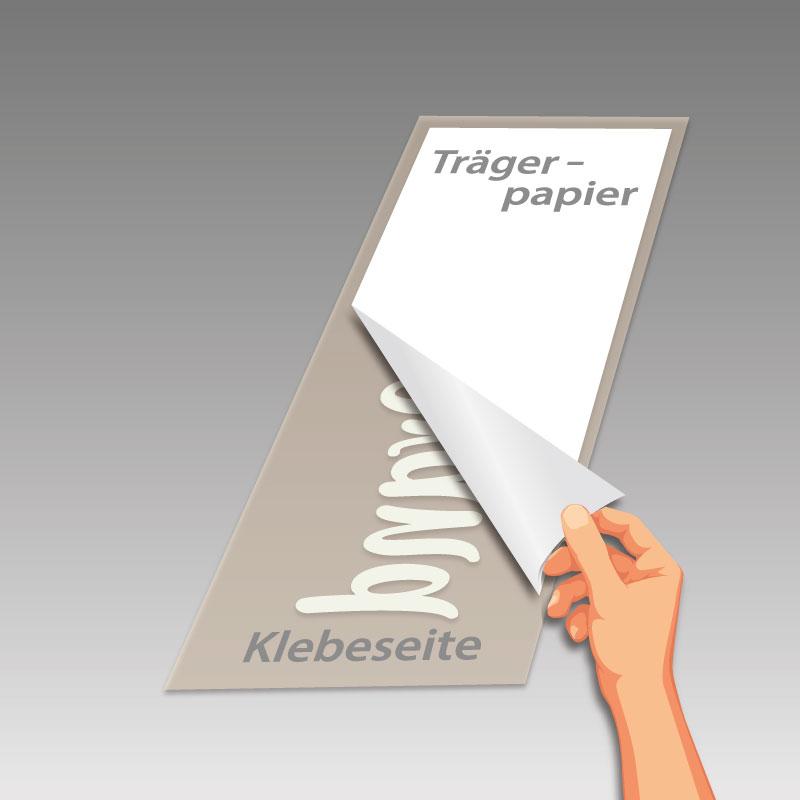 Trägerpapier entfernen