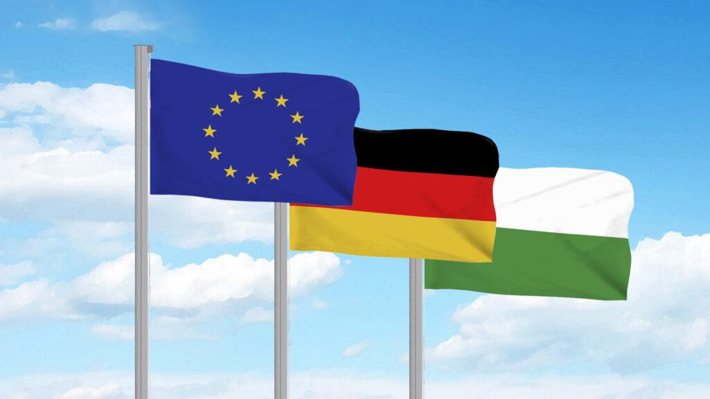 Flaggen Europa, Deutschland, Sachsen