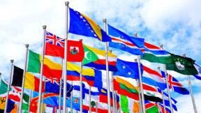 Offizielle Fahnen verschiedene Länder