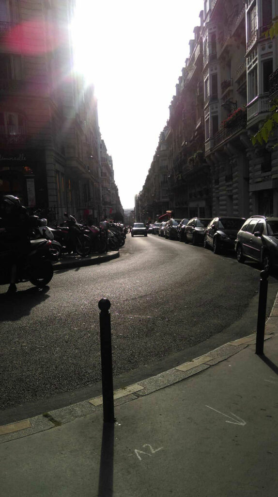 Blick in die Straßen von Paris