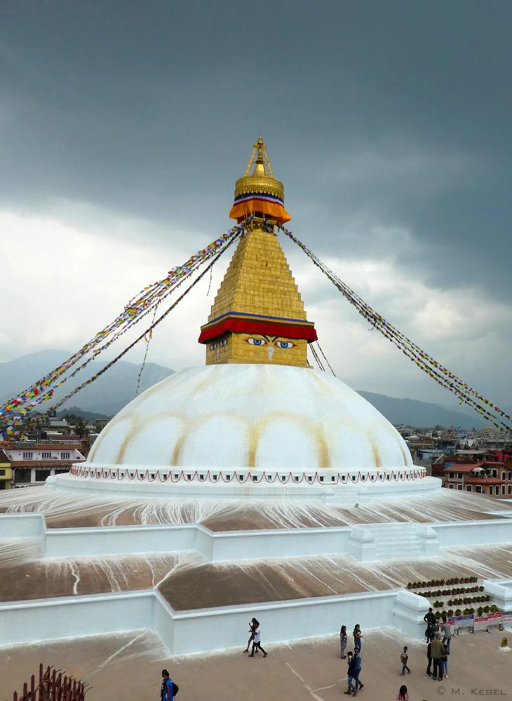 Kathmandu, Boudhanath-Stupa