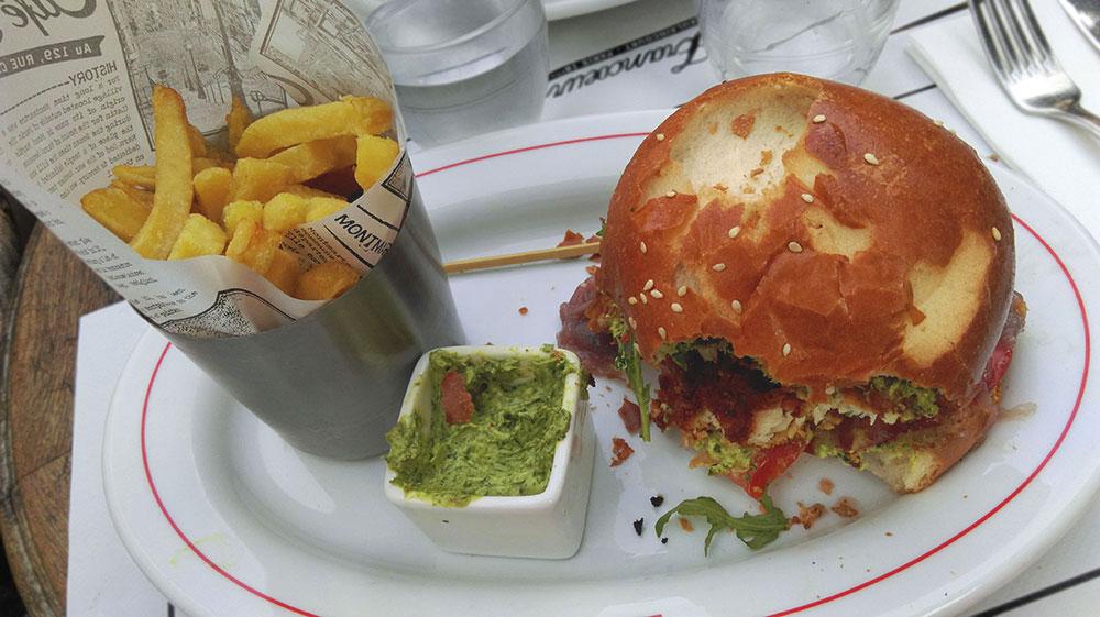 Burger im Café Francœur