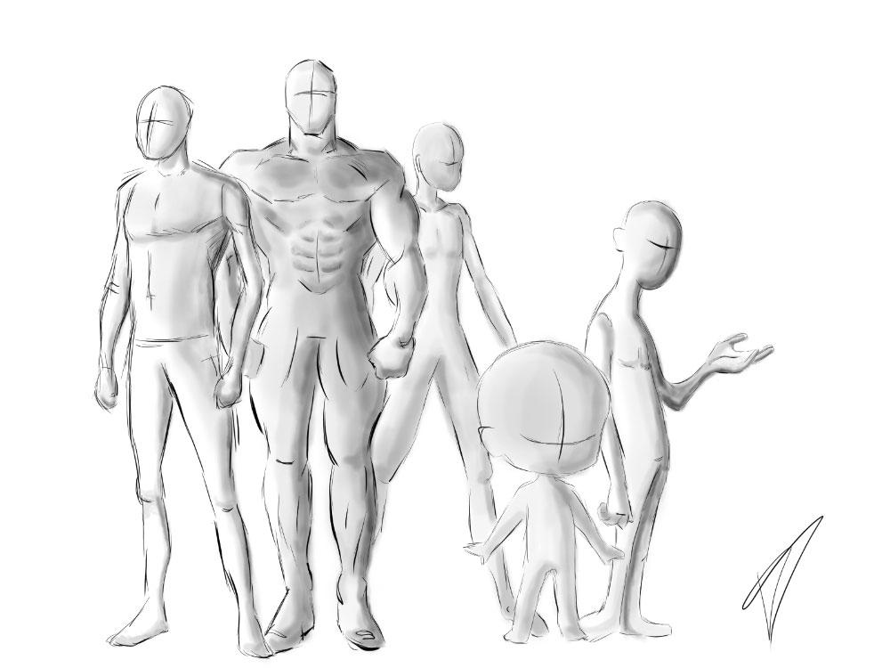 Skizze verschiedene Figuren