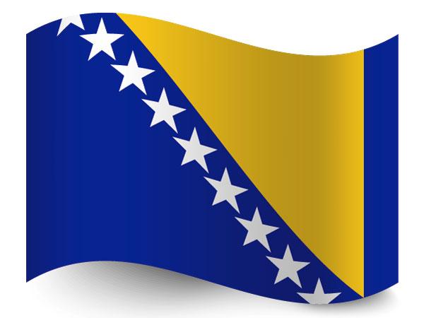 Fahne von Bosnien Herzegowina