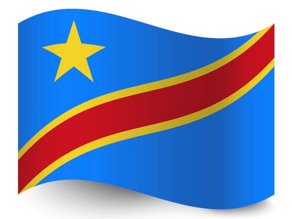 Fahne der Demokratischen Republik Kongo