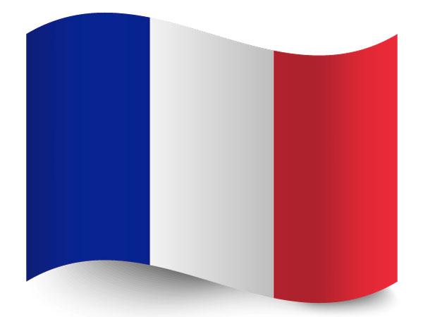Die Fahne von Frankreich