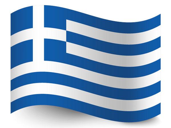 Fahne von Griechenland