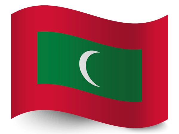 Fahne der Malediven