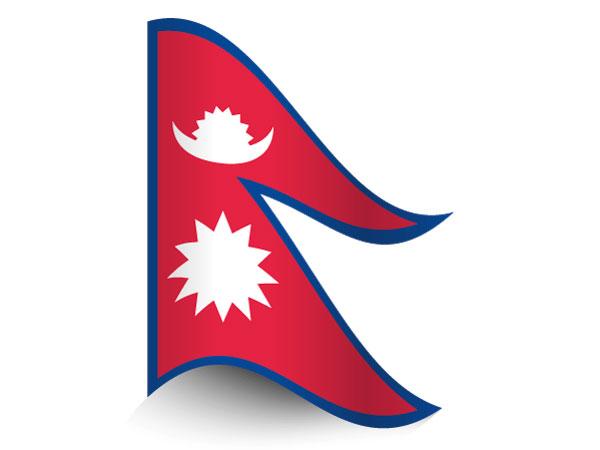 Fahne von Nepal