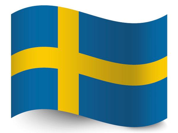 Fahne von Schweden