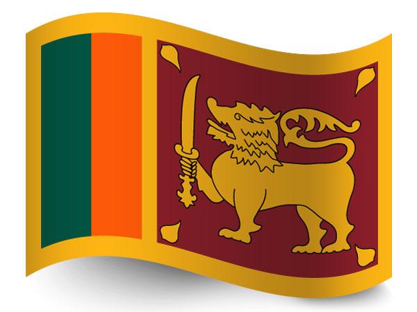 Fahne von Sri Lanka