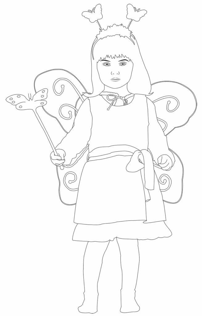 In Illustrator gezeichnetes Kind