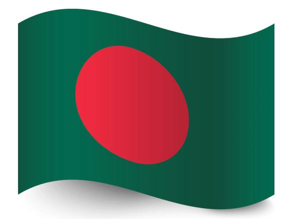 Flagge  von Bangladesh