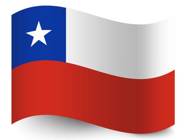 Die Flagge von Chile