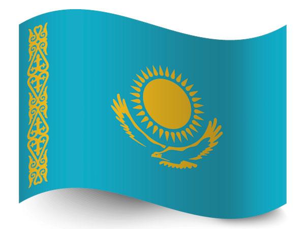 Die Flagge von Kasachstan