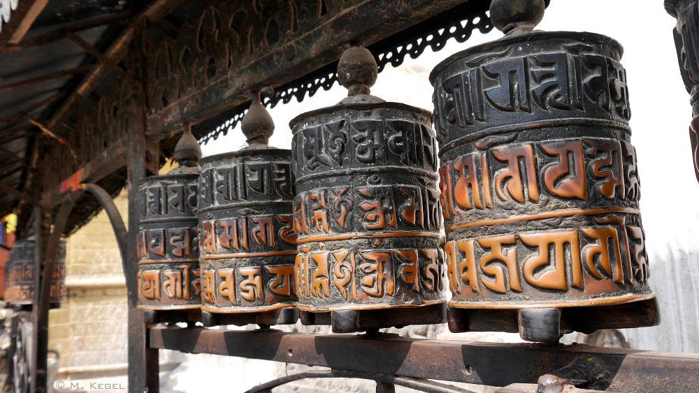 Swayambhunath, Gebetsmühlen