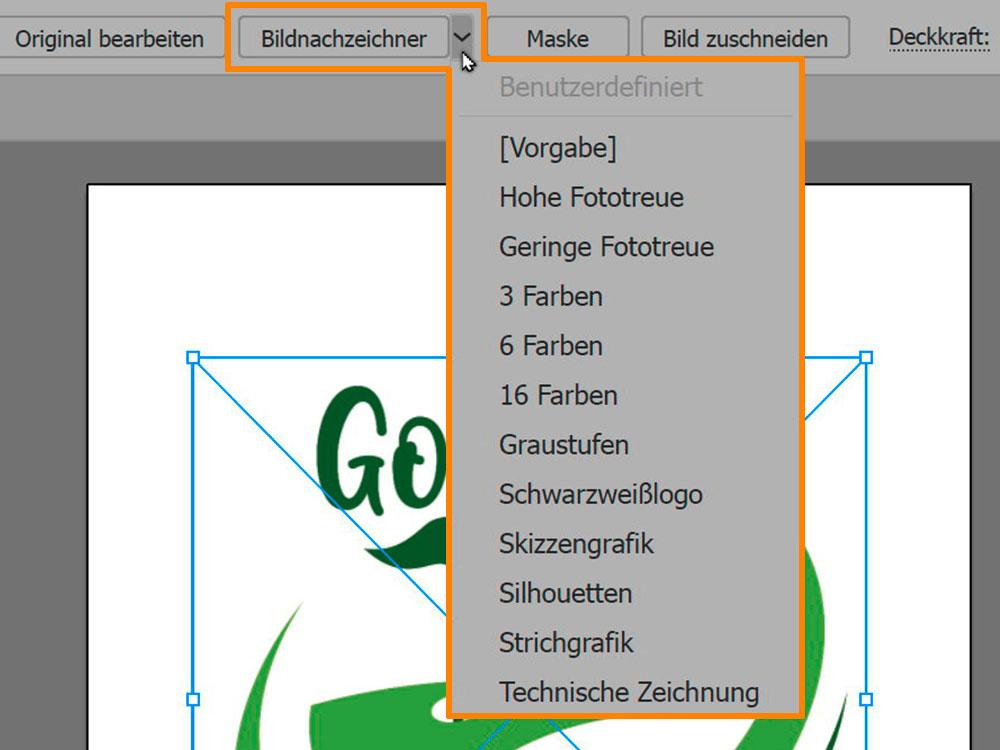 Adobe Illustrator - Bildnachzeichner für Bild in Vektorgrafik umwandeln