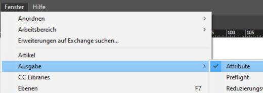 Adobe InDesign Option Attribute