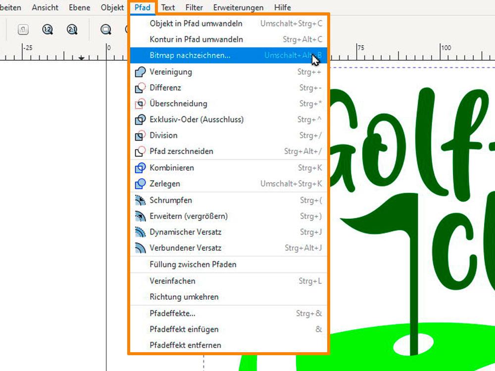 Inkscape, Bild in Vektorgrafik umwandeln