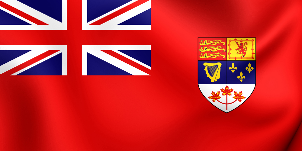 Kanadische Red Ensign Flagge