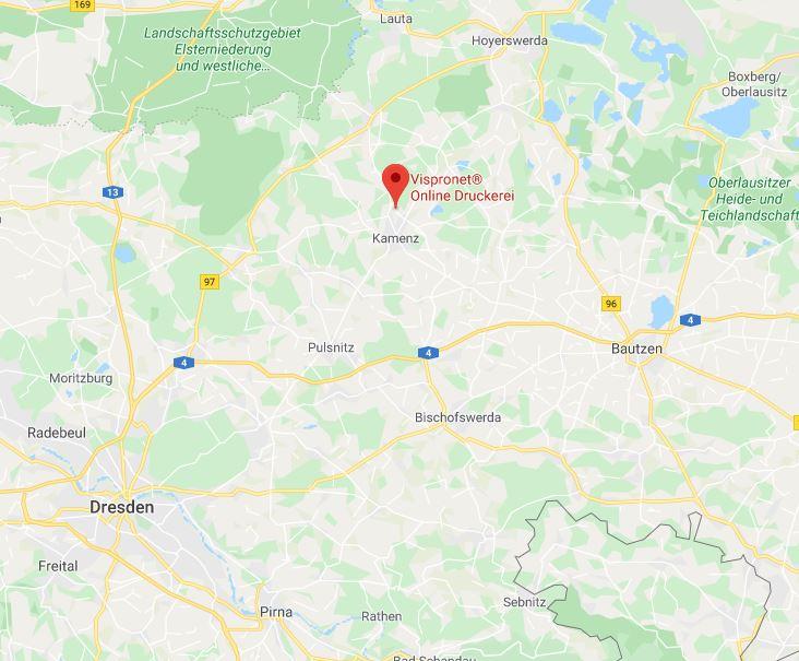 Landkarte Standort Vispronet®
