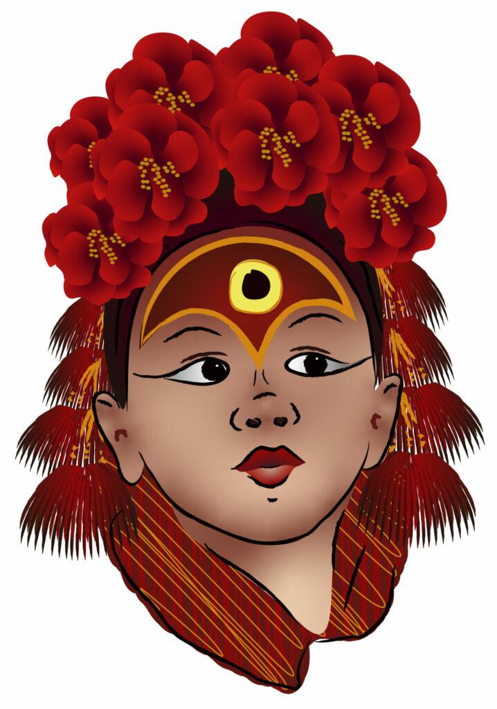 Mädchengöttin Kumari
