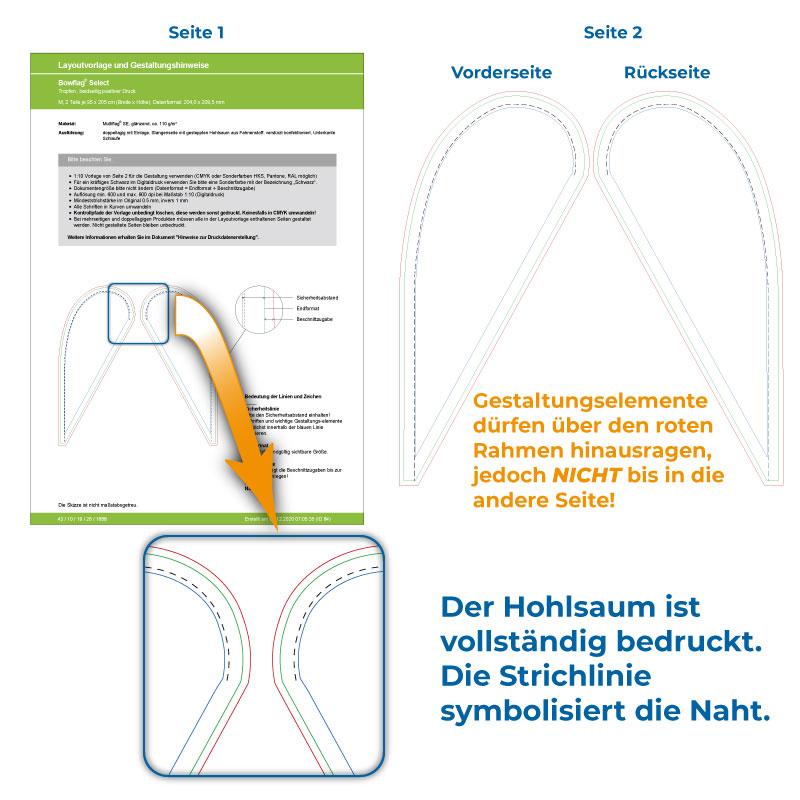 Design-Template - Beachflag mit beidseitigem Druck