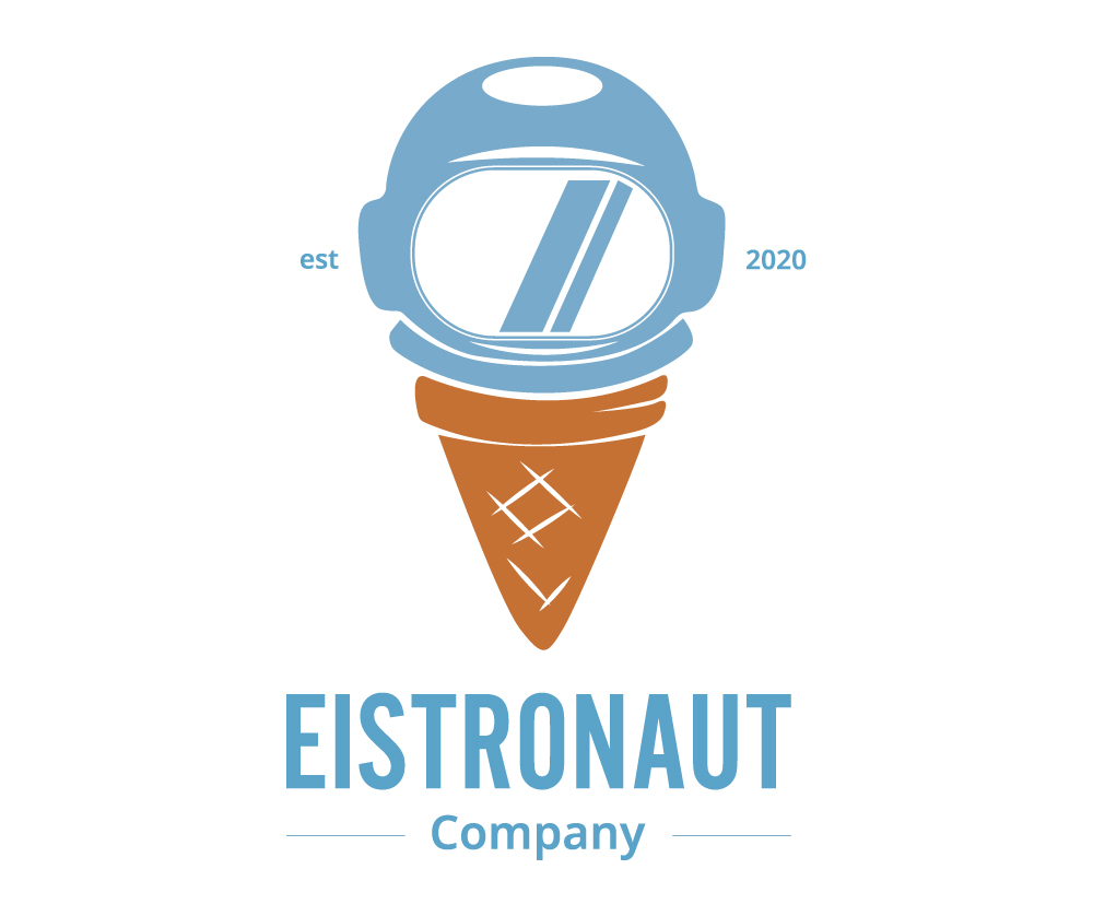 "Farbiges Logo ""Eistronaut"""