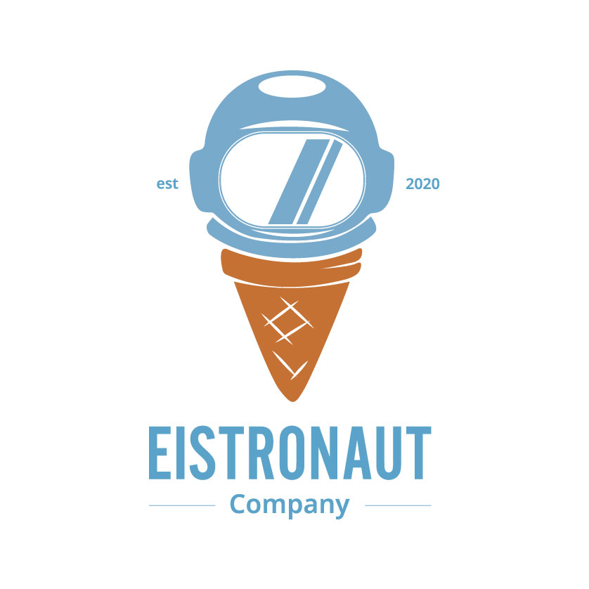 "Logo ""Eistronaut"", nicht responsiv, groß"