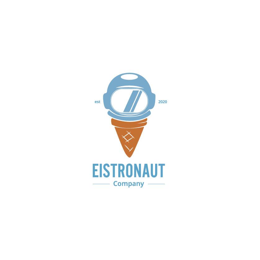 """Logo """"Eistronaut"""", nicht responsiv, klein"""