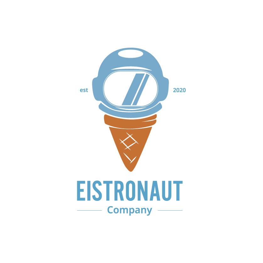 """Logo """"Eistronaut"""", nicht responsiv, mittelgroß"""