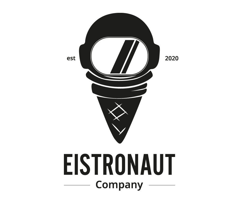 "Schwarz/Weiß Logo ""Eistronaut"""