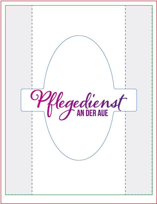 Layoutvorlage Mund- und Nasenmaske, Gestaltung horizontal