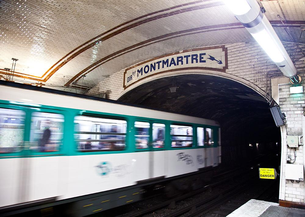 Metrostation Montmatre, Paris