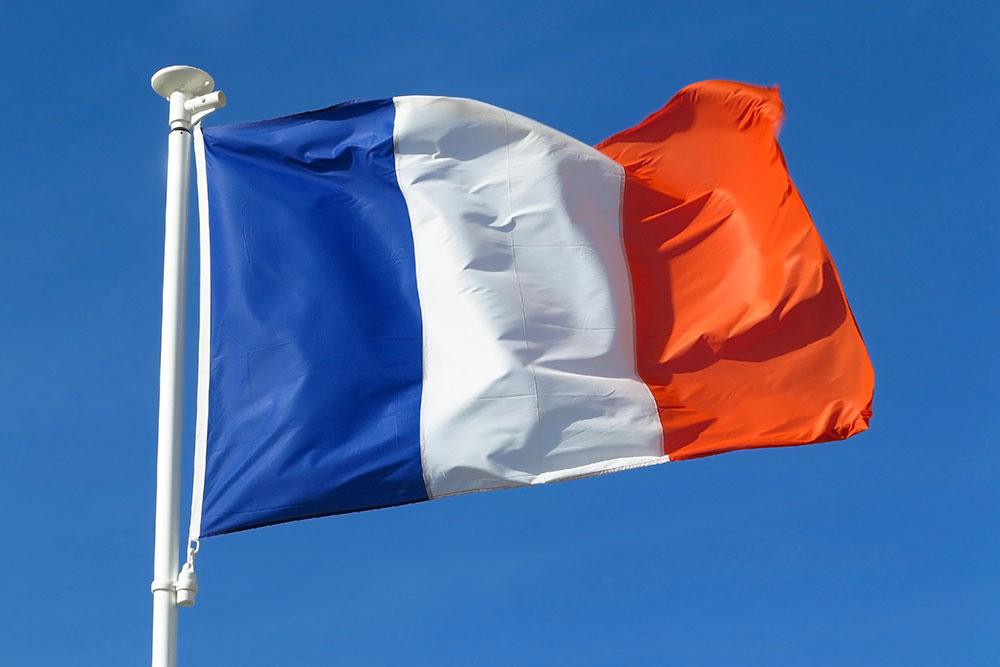 Heutige Nationalflagge von Frankreich