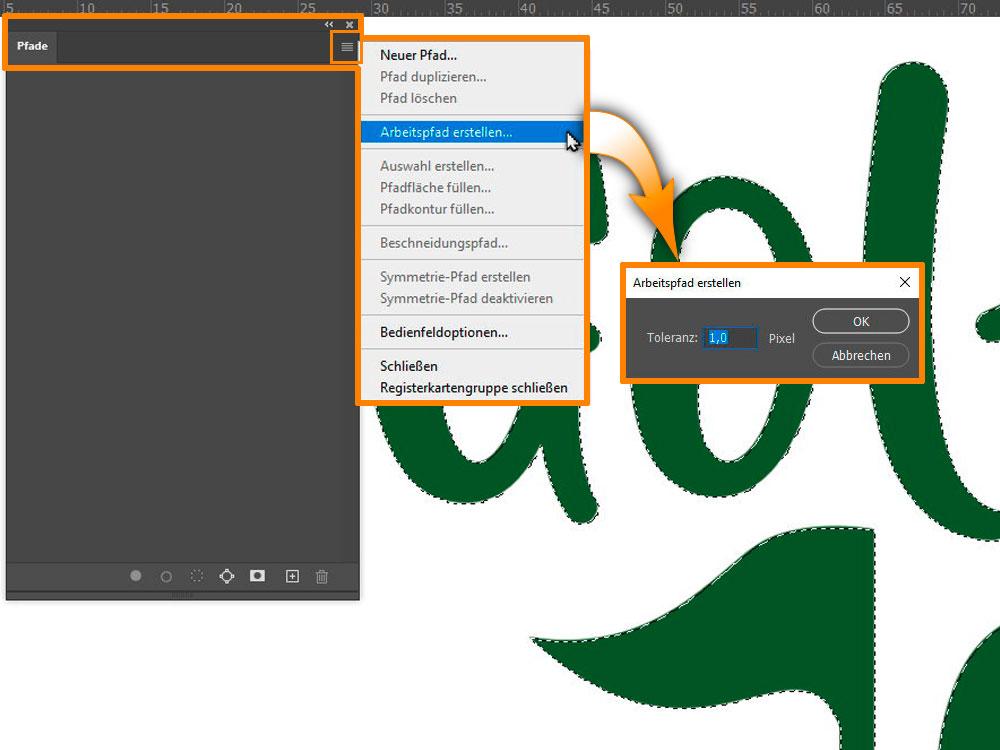 Adobe Photoshop - Arbeitspfad erstellen