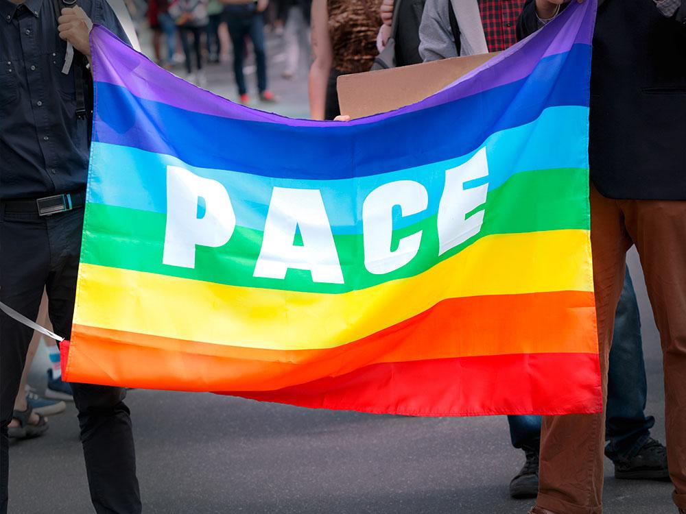Regenbogenflagge Bandiera della Pace