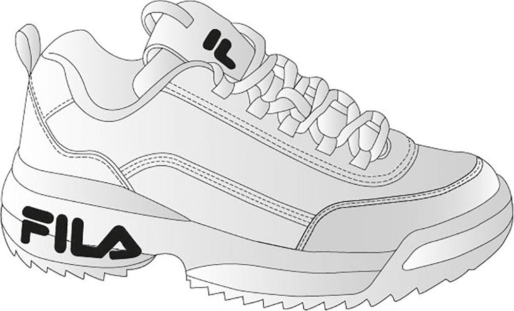 Mit Pfaden gezeichneter Sneaker