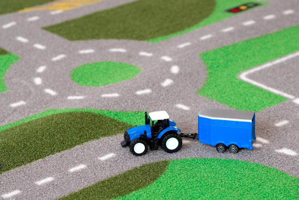 Spielteppich mit Straßen