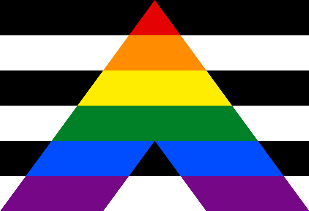 Straight Ally Flagge