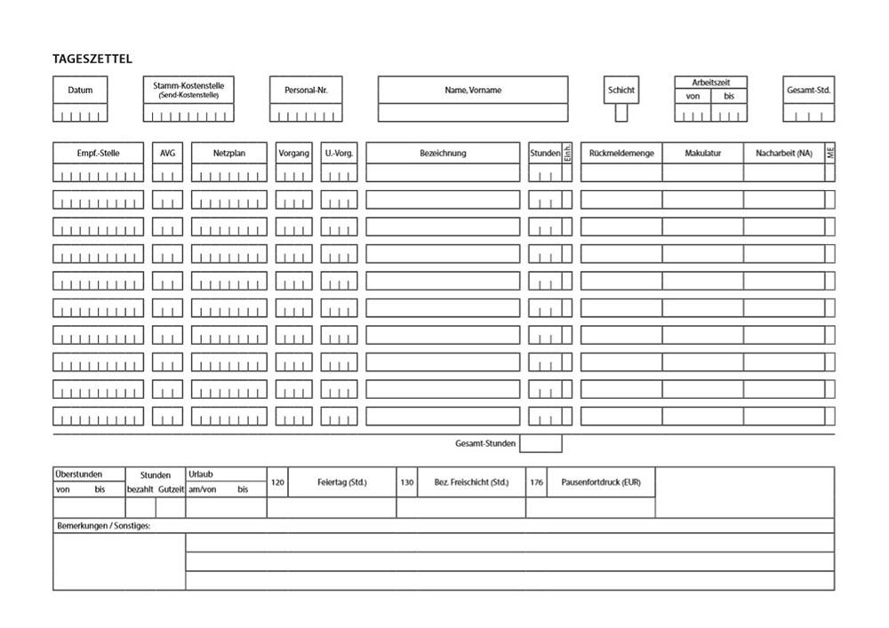 Mit InDesign erstellte Tabelle