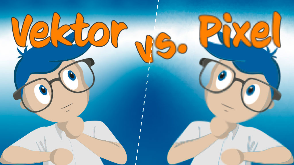 Der Unterschied zwischen Vektorgrafik und Pixelbild
