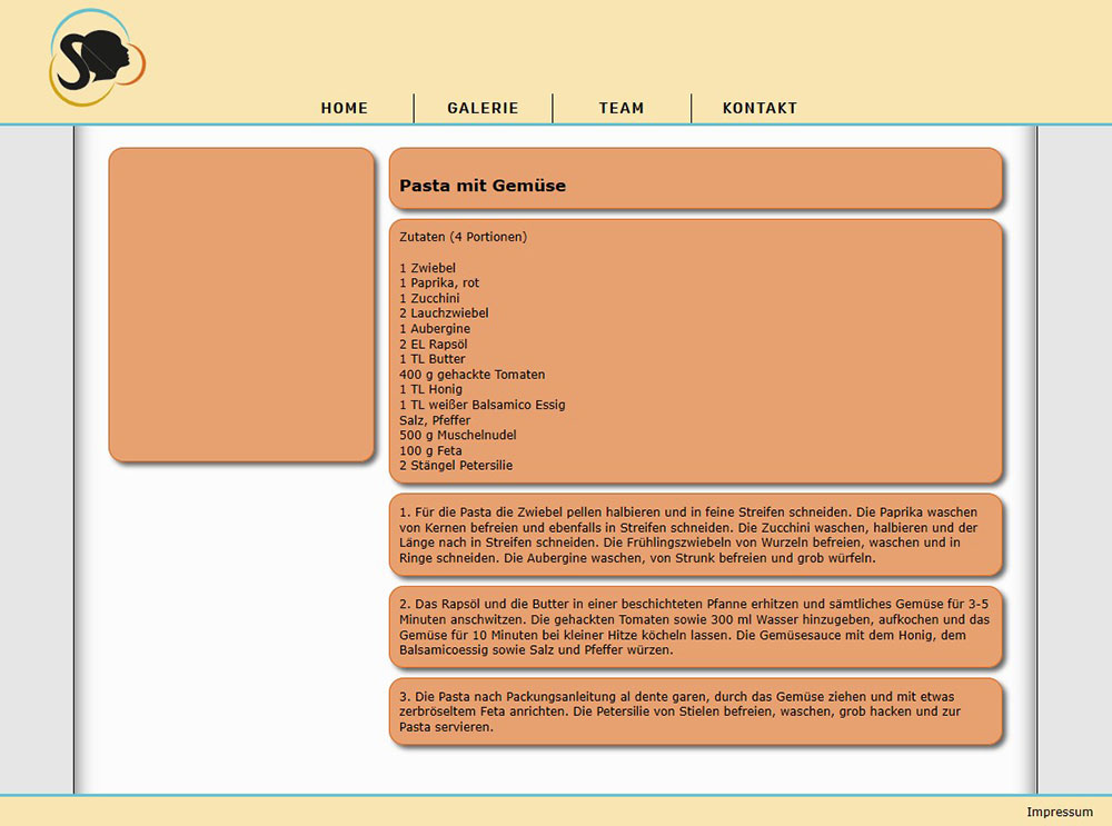 programmierte Website