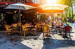 Werbemittel Cafe