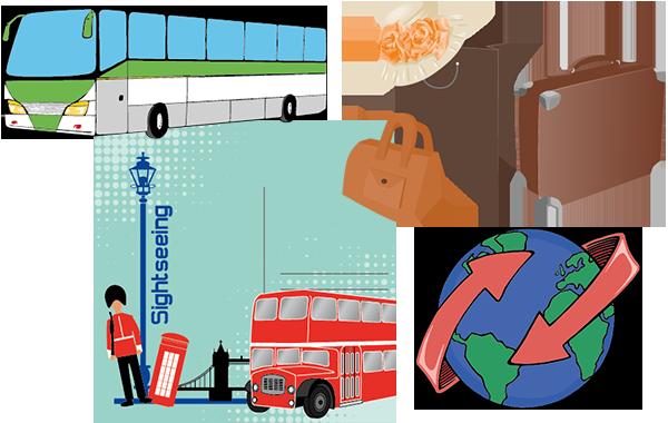 Busreisen Cliparts