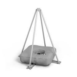 Kreuzfuß mit Schlauchgewicht für mobile Fahnenmasten