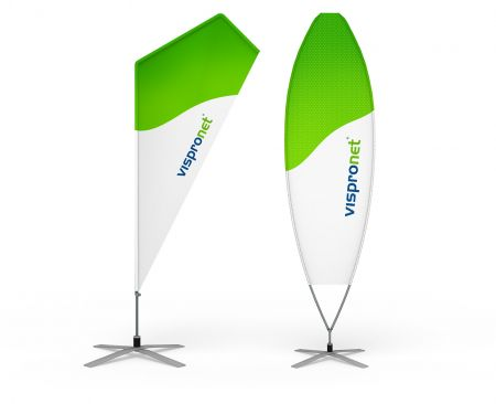 Beachflag Razor und Surfer