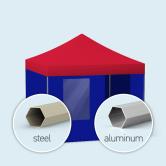 Faltzelt / Faltpavillon Basic & Select, einfarbig
