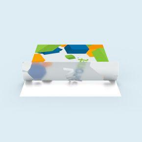 Glasdekorfolie, selbstklebend