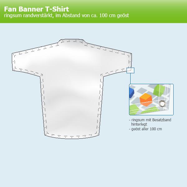 Riesige Fan Banner in T-Shirt Form - Stadionbanner kaufen